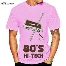 Gedruckt 80 S Hallo Tech Lustige T-shirt T-shirt Männer Baumwolle Herren T Shirt 2020 Oversize S-5xl