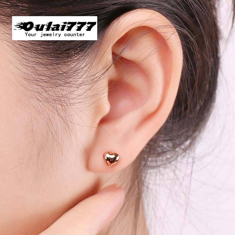 earring wholesale stainless steel punk gold earing women's heart earring women earrings girl 2019 fashion jewelry punk stly