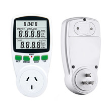 Digital LCD ENERGY METER Power Analyzer Wattmeter Watt Listrik KWh Power Meter Uni Eropa Bahasa Perancis US UK AU Mengukur Outlet(China)
