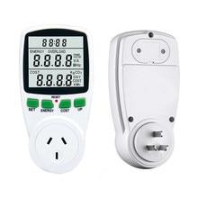 Analyseur d'énergie numérique LCD, compteur de puissance, watt, Kwh, sortie de mesure ue, français, US, UK et AU
