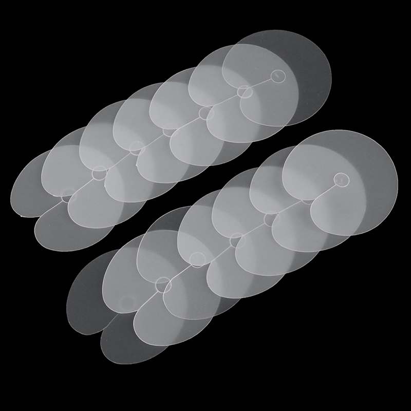 50pcs Round Heat Protector Shields Heat Insulation Sheet Protector Shield Scale Mark Tip Keratin Hair Extensions Styling Tool