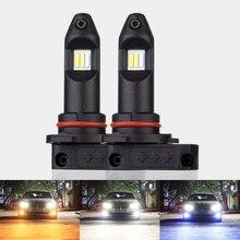 Uttril 3 цвета все в одном 3000K 6000K 12000K H8 H9 H11 9005 HB3 9006 HB4 9012 светодиодный Автомобильная фара противотуманная фара 12 В без вентилятора