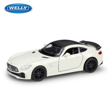 WELLY 1:36 Mercedes-Benz AMG GT R Alloy car model die-casting simulation decoration collection gift toy