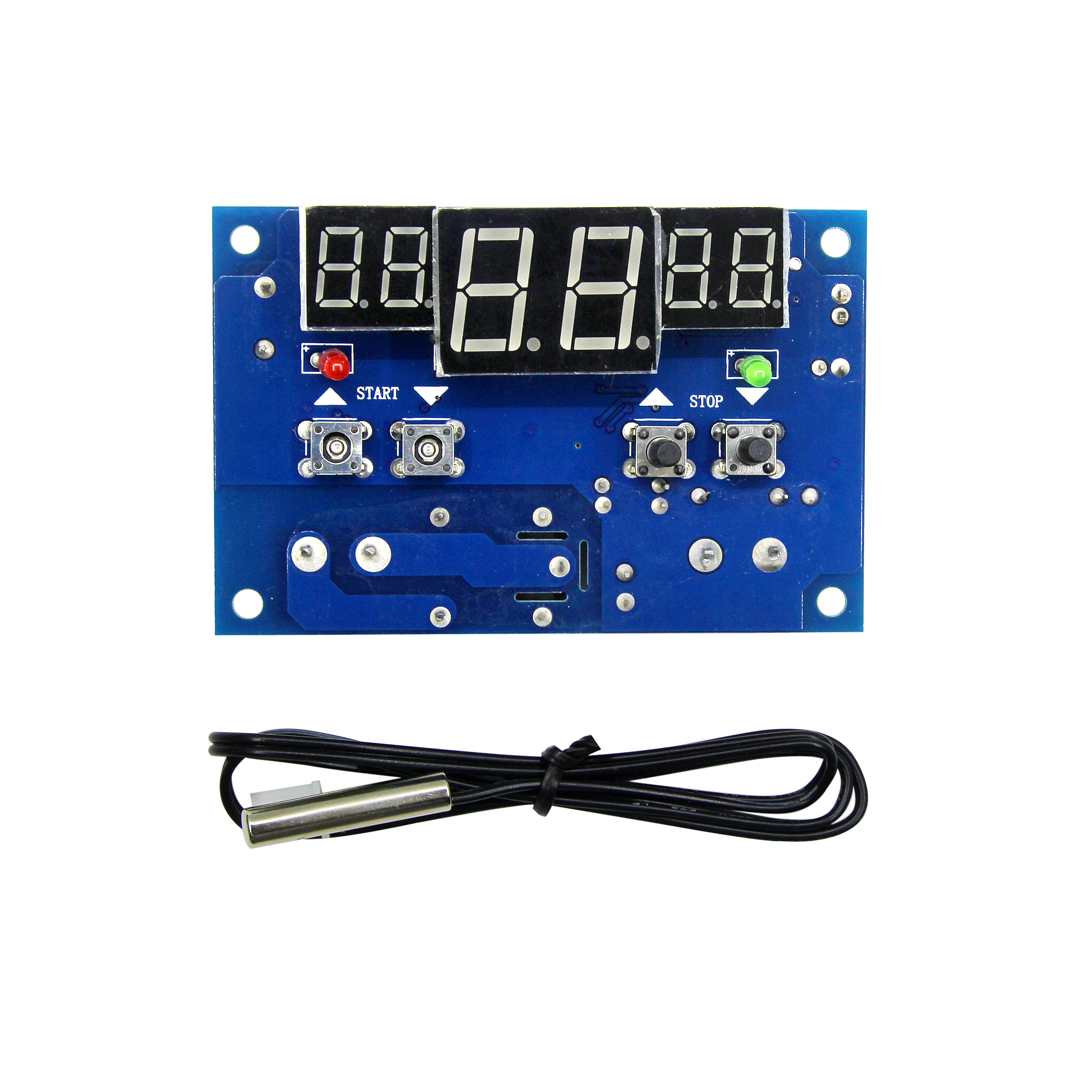 XH-<font><b>W1401</b></font> <font><b>DC12V</b></font> Digital Display <font><b>Thermostat</b></font> Intelligent Temperature Controller Thermometer Controller image