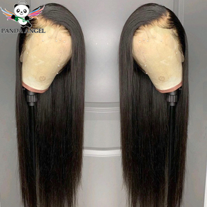 Brazilian Straight Lace Front Wig 8-30inch Wig 13x4 Lace Front Wigs 150% Pre Plucked Remy Human Hair 360 Lace Frontal Wigs Panda(China)
