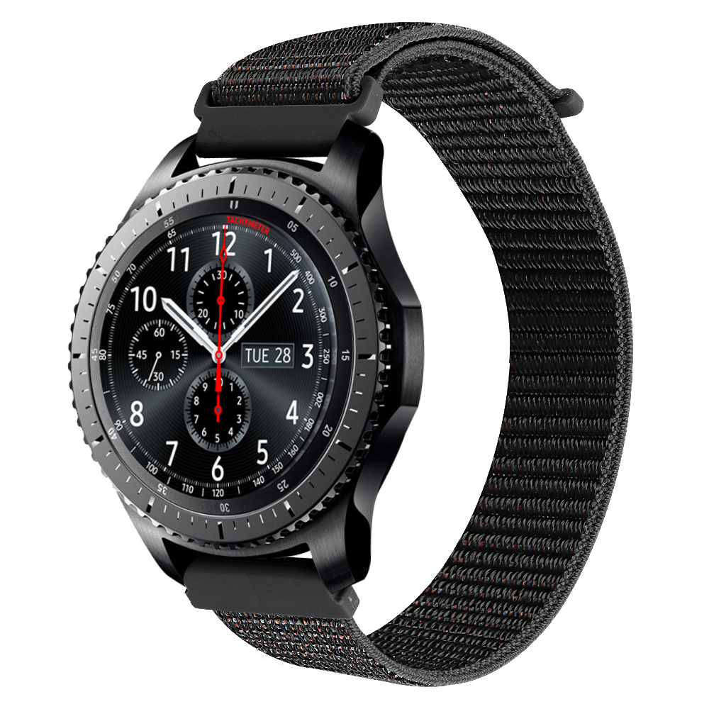 Nylon 22mm Watch Strap For Samsung Gear S3 Classic / Frontier /Samsung Galaxy Watch 46m Sport Wristbands For HUAWEI WATCH GT 2