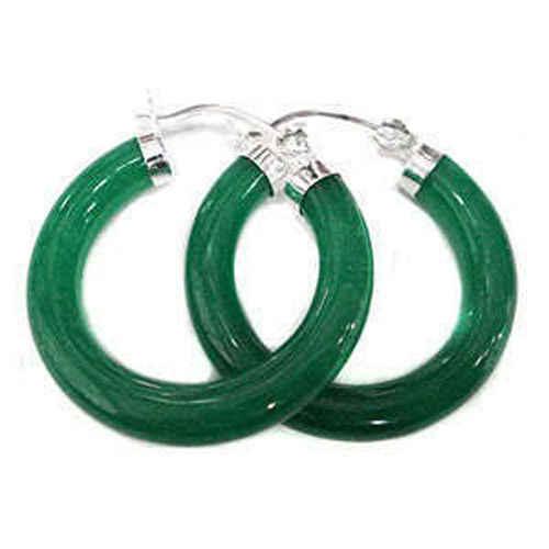 DYY + + + mode arrivée Design inhabituel vert calcédoine boucles d'oreilles 18K GP style Fine jewe Noble naturel jade livraison gratuite
