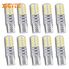 10X Car led Strobe Lights White T10 W5W 194 168 24 SMD Canbus Error Free Lamp 5630 12V Car LED Flash Bulb Reverse Parking Light(China)