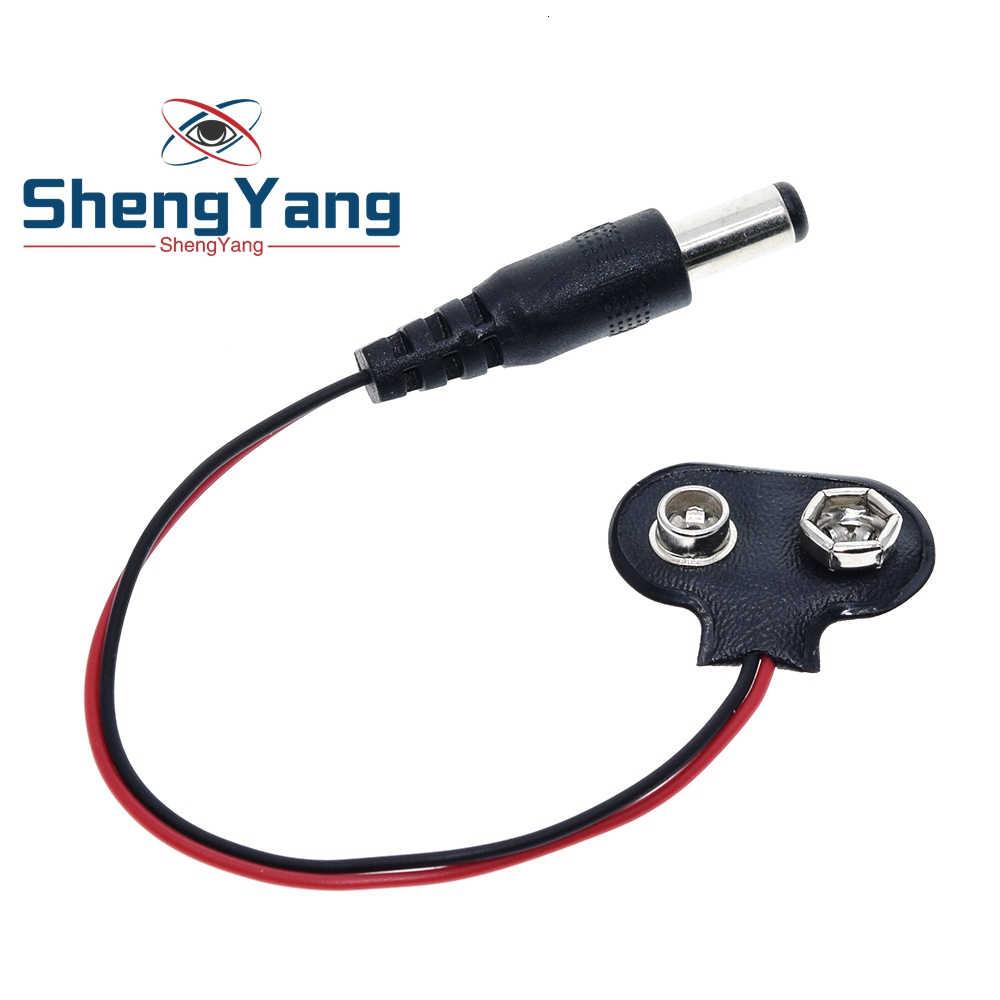 Shengyang 90 dc 9 v bateria botão ficha de alimentação para arduino mega 2560 1280 uno r3 132 9 v bateria fivela