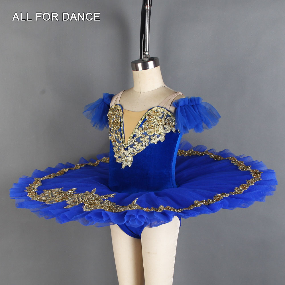 IN STOCK Royal Blue Velvet Lace Lyrical Ballet Dance Costume Size 3 Adult Small