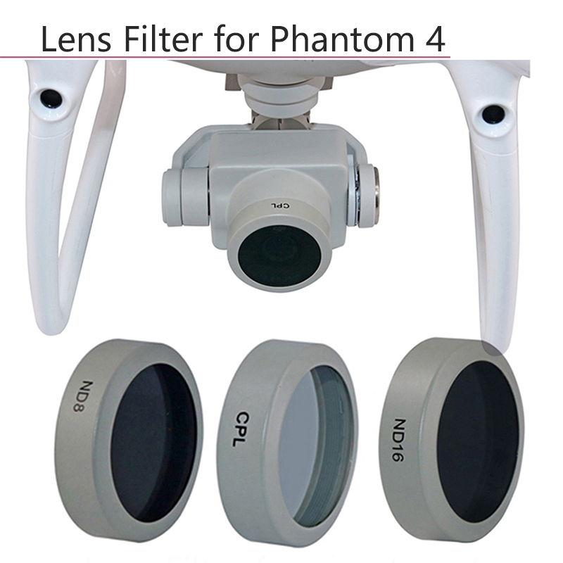 ND8 CPL ND32,MCUV ND16 TANGON Lens Filters for DJI Phantom 4Pro Drone Camera Lens Set,Gradual Color Filters Pack Accessories ND4 Blue