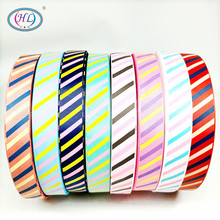 HL 1(25mm) 5 Meters/lot Printed Stripe Grosgrain Ribbons Wedding Party Decorative Gift Wrapping DIY Chilren Hair Accessories 6yards lot mix printed trim geometric ribbons diy wrapping wedding party hair bow decoration art sewing accessories 040054006