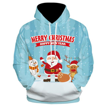 Christmas Snowman 3D Sweater hooded sweater Warm Novelty Ugly snowman printing Women Santa Claus