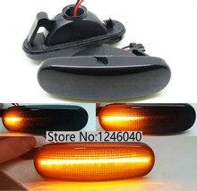 2PCS Led Dynamische Seite Marker Blinker anzeige Licht Lampe fit Für Peugeot Bipper Tepee box van Citroen Nemo lancia Musa(350)