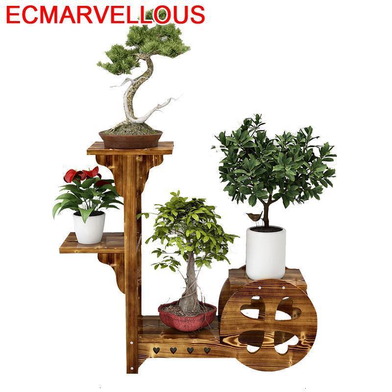 For Huerto Urbano Madera Indoor Plantenrekken Pot Estante Para Plantas Rack Stojak Na Kwiaty Shelf Outdoor Flower Plant Stand