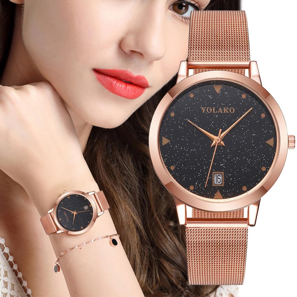 Women Watch Fashion Sports Business Casual Stainless Steel Mesh Belt Watch Simple Dial Quartz Watch Women watches Reloj hombre