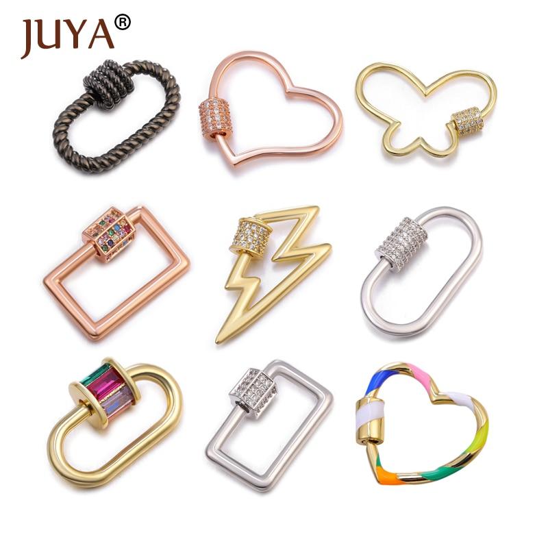 Juya Handmade Jewelry Clasps Supplies Fastener Screw Clasps Accessories For Luxury Jewelry Making DIY Woman Necklace Bracelet
