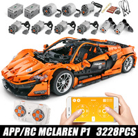 DHL 20087 The MOC 16915 McLaren P1 Speed Car Set App RC Technic Motor Car Toys Building Blocks Bricks Kids Toys Christmas Gifts