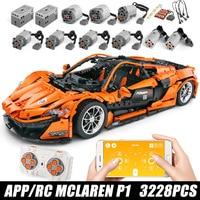 DHL 20087 The MOC 16915 McLaren P1 Speed Car Set App RC Technic Motor Car Toys Building Blocks Bricks Kids Toys Christmas Gifts