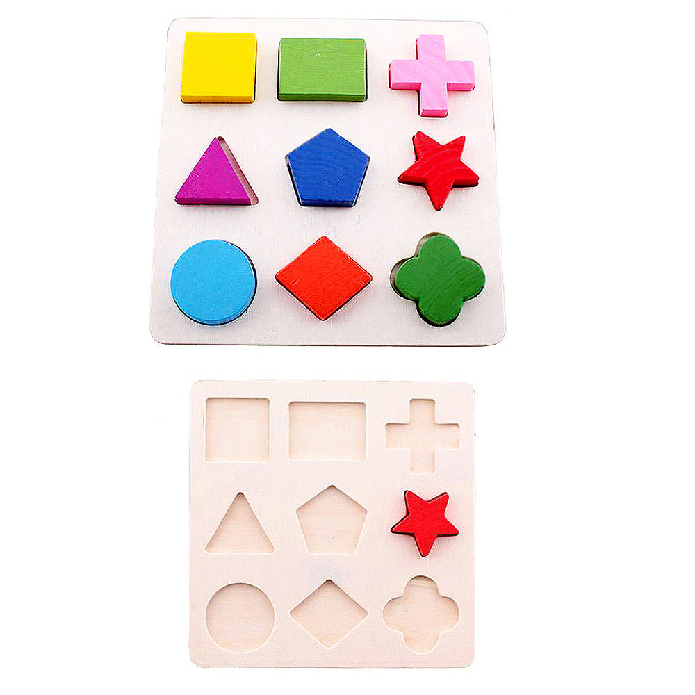 Kids Souptoys Wooden Geometry Building Puzzle Toys Early Learning Educational Toy Toys For Children Puzzle Toys For Kids