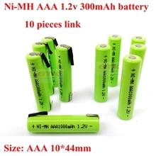 10 шт. Оригинальная Аккумуляторная батарея AAA 1,2 V 1000mah никель-металлгидридная батарея 1,2 V для беспроводного телефона Камара игрушки в виде мы...