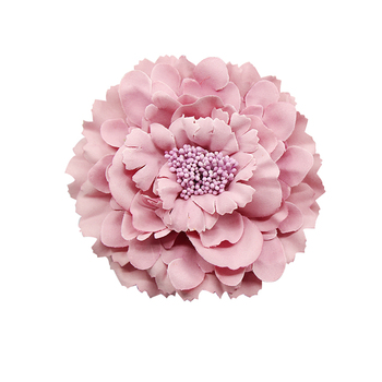 2020 Trendy Fabric Blooming peony Flower Corsage Brooch woman Hair Decorations & wedding party Clip Bridal Wedding