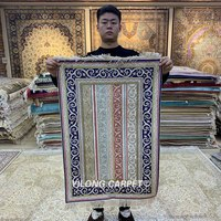 Yilong 2'x3' Patchwork Handmade Silk Area Rug Antique HandKnotted Carpet (HF093B)