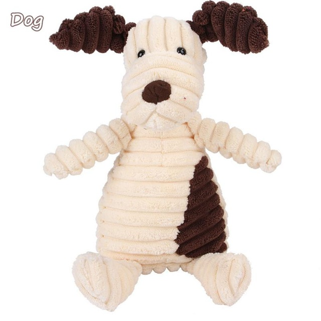 Corduroy Dog Toys for Small Large Dogs Animal Shape Plush Pet Puppy Squeaky Chew Bite Resistant Toy Pets Accessories Supplies 8
