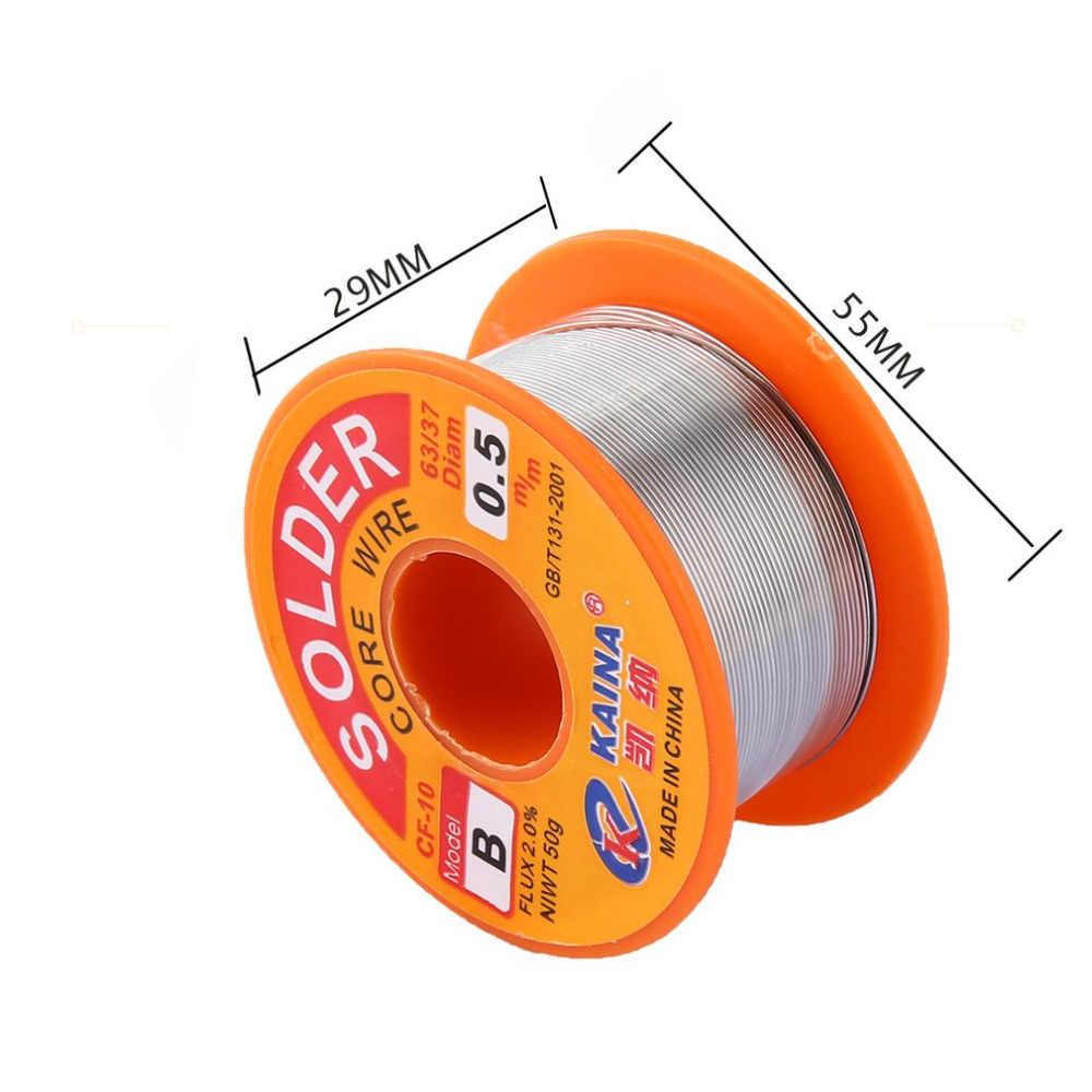 0.5 Mm 2% Flux Tin Lood Rosin Roll Core Zilver Soldeer Lassen Solderen Repareren Tool Reel Melt Kit Elektrische smelten