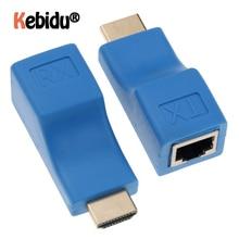 Plus récent Extendeur HDMI 4k RJ45 Ports LAN Réseau Dextension HDMI Jusquà 30m Sur CAT5e / 6 hotUTP LAN Câble Ethernet Pour HDTV HDPC