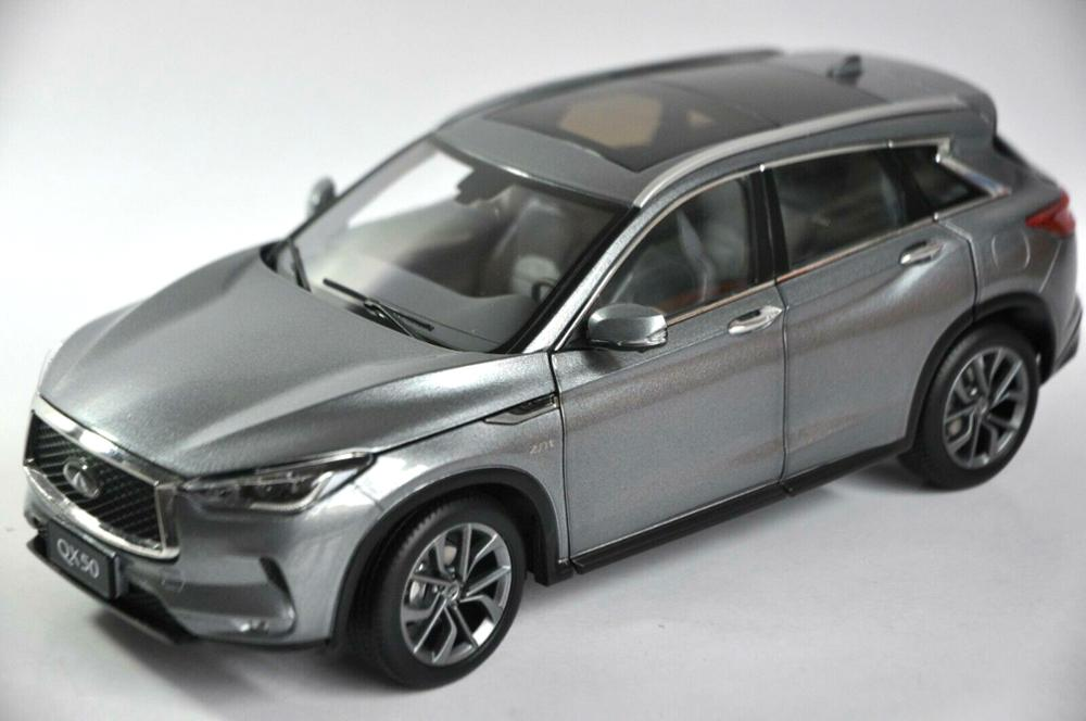 <font><b>1:18</b></font> <font><b>Diecast</b></font> Model for <font><b>Nissan</b></font> Infiniti QX50 2018 Gray SUV Alloy Toy <font><b>Car</b></font> Miniature Collection Gifts Hot Selling QX EX25 image