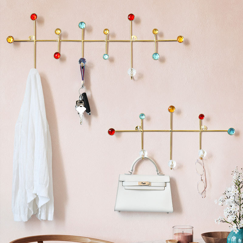 Wall Décor Metal Cloth Hook Hanger Wall Hooks For Clothes Coat Cap Hat Bag Towel Bathroom Living Room Kitchen Key Holder Rack