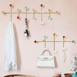 wall décor Metal Cloth hook Hanger wall hooks for clothes coat cap hat bag towel bathroom living room kitchen key holder rack