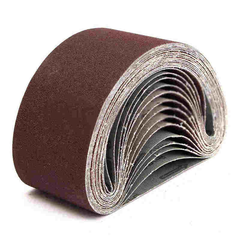 10Pcs 75x457mm Sanding Belt Aluminium Oxide 40-1000 Grits Power Accessory