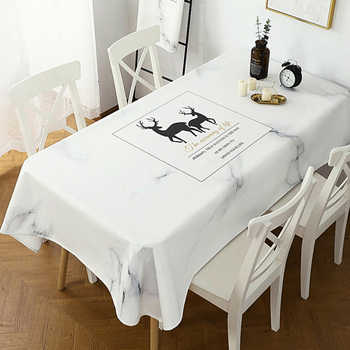 Nordic thickened cotton linen art tablecloth waterproof and oil-proof anti-scald wash table cover tablecloth coffee table placem