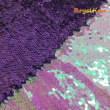 Double Face Sequins Fabric For Handbags Garments DIY Tissue Sewing Fabric Material Craft Making Accessories-Iridescent White image