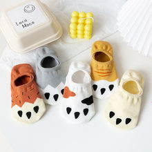 Cartoon Cat Paw Funny Cotton Invisible Spring Summer Boat No Show Sock Non-slip Women Short Low Cut Sock Slippers Silicone Socks