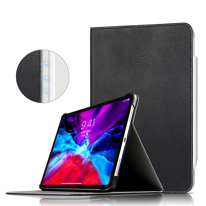 Case Cowhide For iPad Pro 11 2021 2020 Protective Cover Genuine Leather Case For new iPad