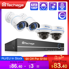 Techage 4CH 1080P Hdmi Poe Nvr Kit Beveiliging Cctv systeem 2MP Ir Cut Indoor Outdoor Cctv Dome Ip camera P2P Video Surveillance Set