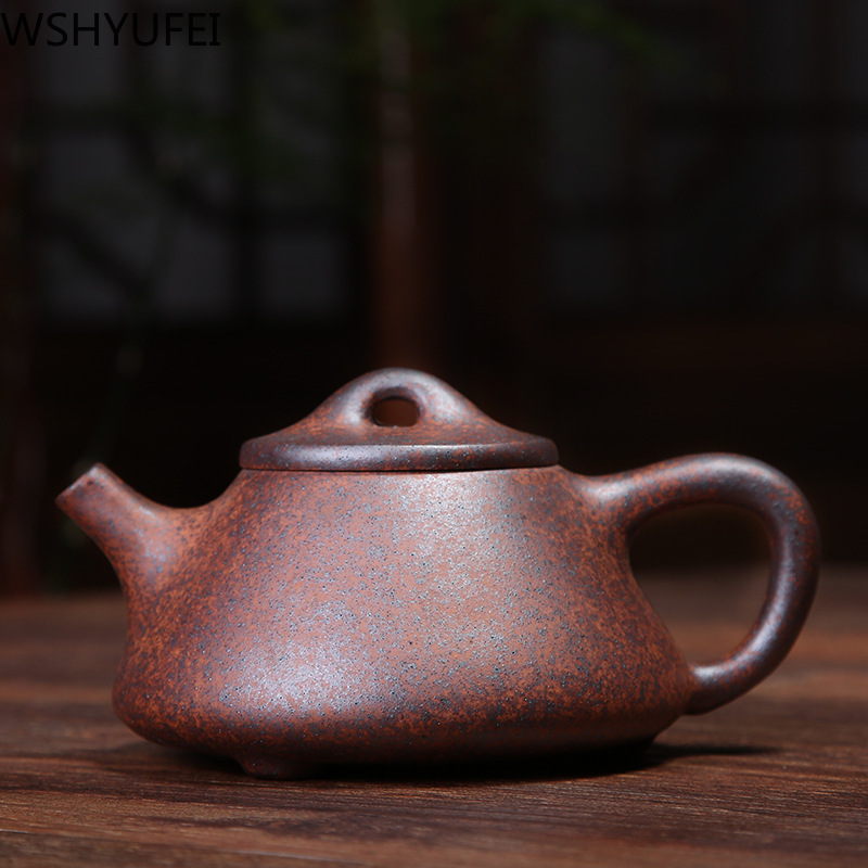 WSHYUFEI Zisha Firewood Kiln Change Stone Scoop Pot Yixing Purply Clay Teapot Chinese Tea Pots High-end Customized Gifts 220ml
