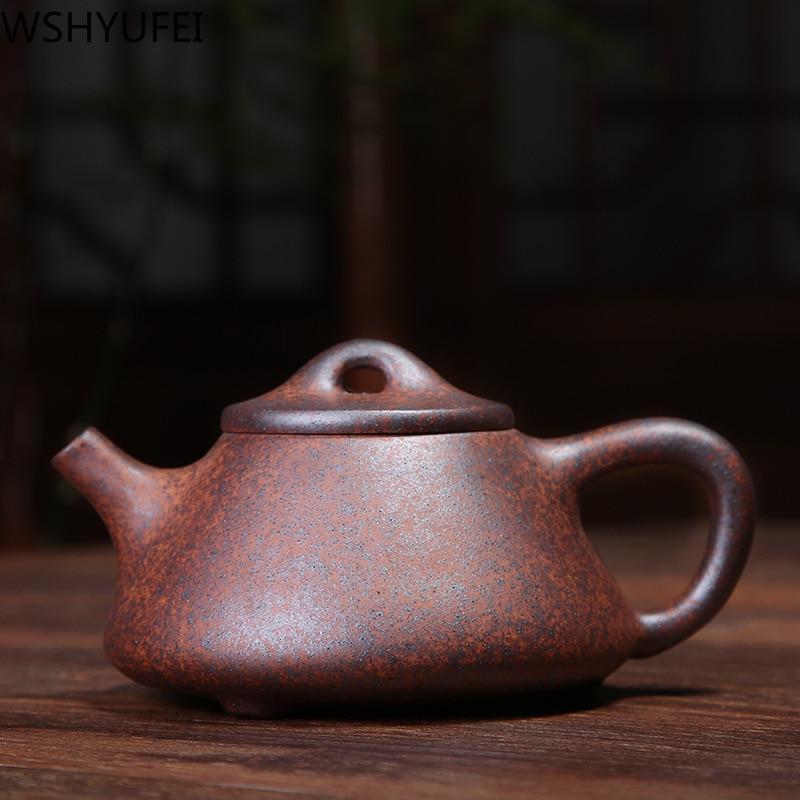 WSHYUFEI Zisha Firewood Kiln Change Stone Scoop Pot Yixing Purply Clay Teapot Chinese Tea Pots High-end Customized Gifts 220ml