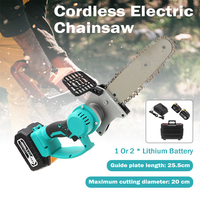 88V/198V Cordless Chain Saw Brushless Motor Power Tools Lithium Rechargeable Cordless Electric Chainsaw Garden Power Tools