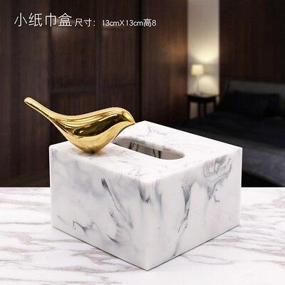 Полимерная мраморная бумажная коробка под салфетку Европейская ретро книжная коробка гостиная журнальный столик Ресторан многофункциональное бумажное полотенце ванная комната Ac - Цвет: B