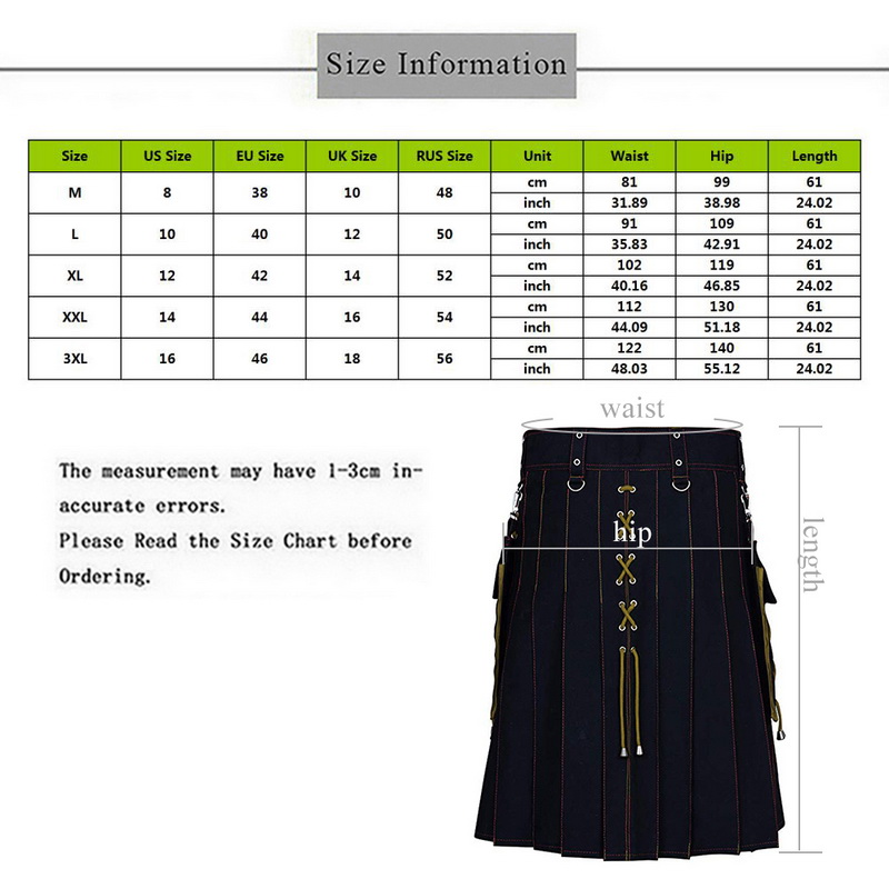 New Utility Kilt Hybrid Modern Cotton Jeans Kilt For Men's