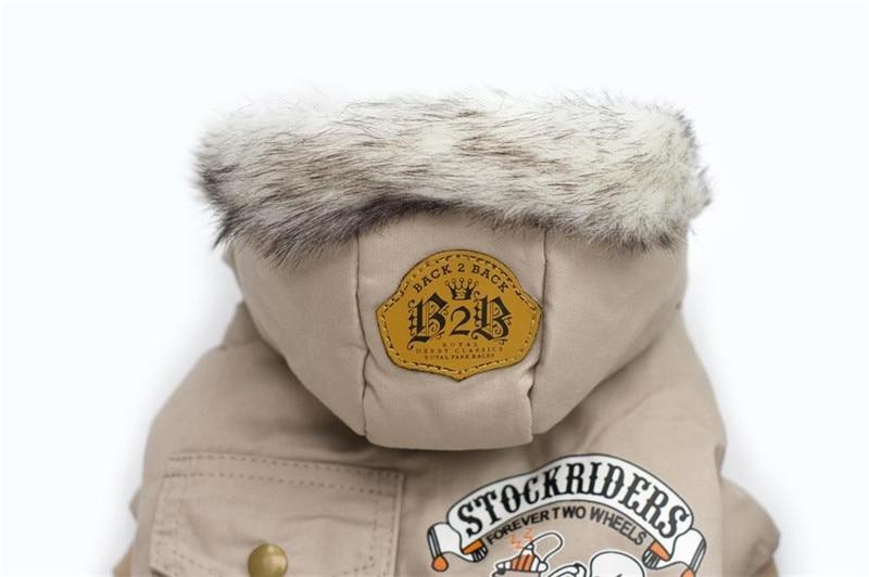 Высококачественная зимняя теплая одежда для собак с капюшоном, утепленное хлопковое пальто для щенков, куртки для чихуахуа, одежда для собак, комбинезон-4