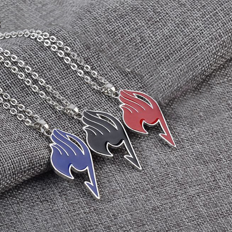 1 Pc Hot Sale Anime  Fairy Tail Action Figure Cosplay Necklace Cartoon Fairy Tail Guild Pendant Necklace Kids Toy