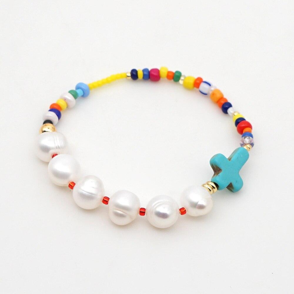 GO2BOHO Real Pearl Bracelet Bracelets Mixed Color Women Natural Armbanded Bohemian Gift Boho Jewelry Joias Feminina Handmade