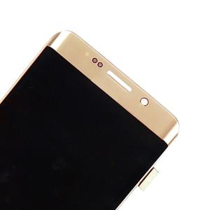Image 3 - ORIGINAL 5.7 AMOLED LCD pour SAMSUNG Galaxy s6 edge Plus G928 G928F écran tactile numériseur affichage rouge brûlure