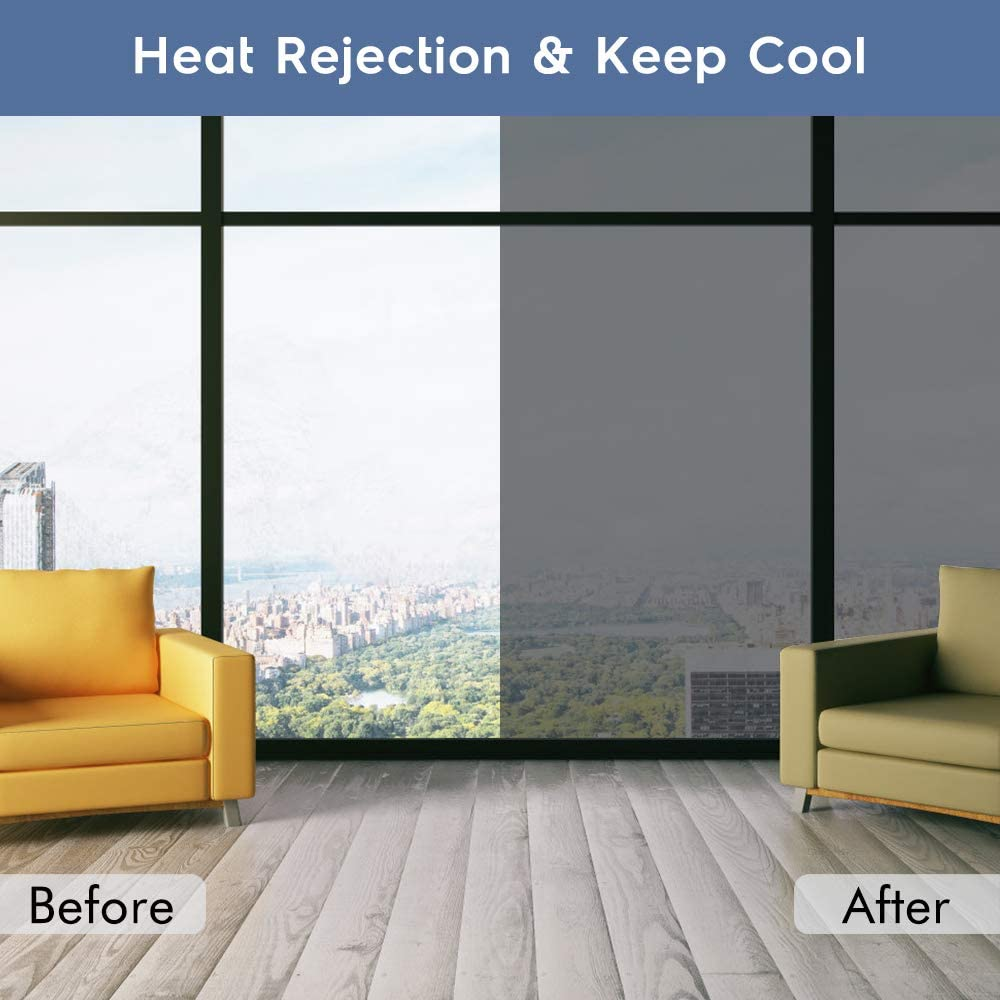 Mirror Reflective Window Film One Way Vision Solar Window Tint Vinyl Glass Self Adhesive Control Film Privacy Sticker for Home 4