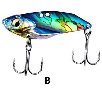 1 uds/invierno pesca realista Mini nadar peces duro bait3.5cm/5g Artificial de metal VIB de señuelo wobbler flotar envío gratis